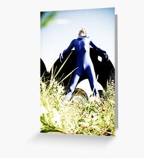 A Day in Blue Zentai lomo 03 Greeting Card