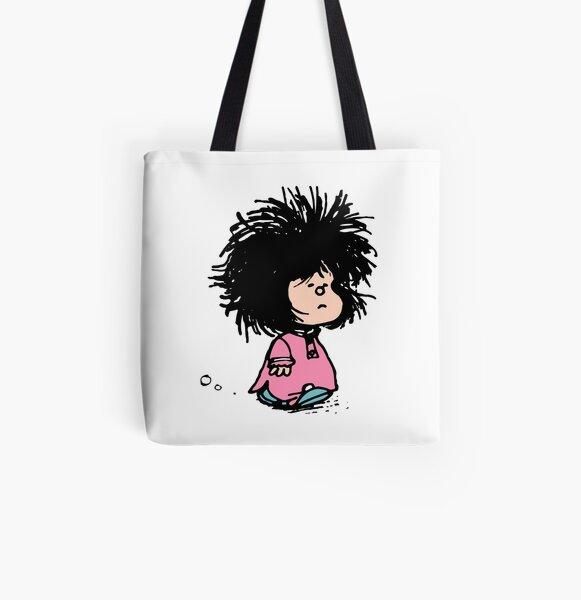 Mafalda con camisón despeinada recién levantada Quino historieta argentina Bolsa estampada de tela
