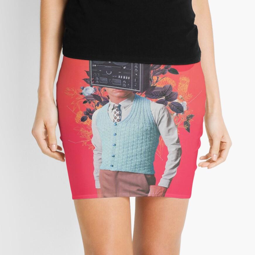 Phonohead Mini Skirt