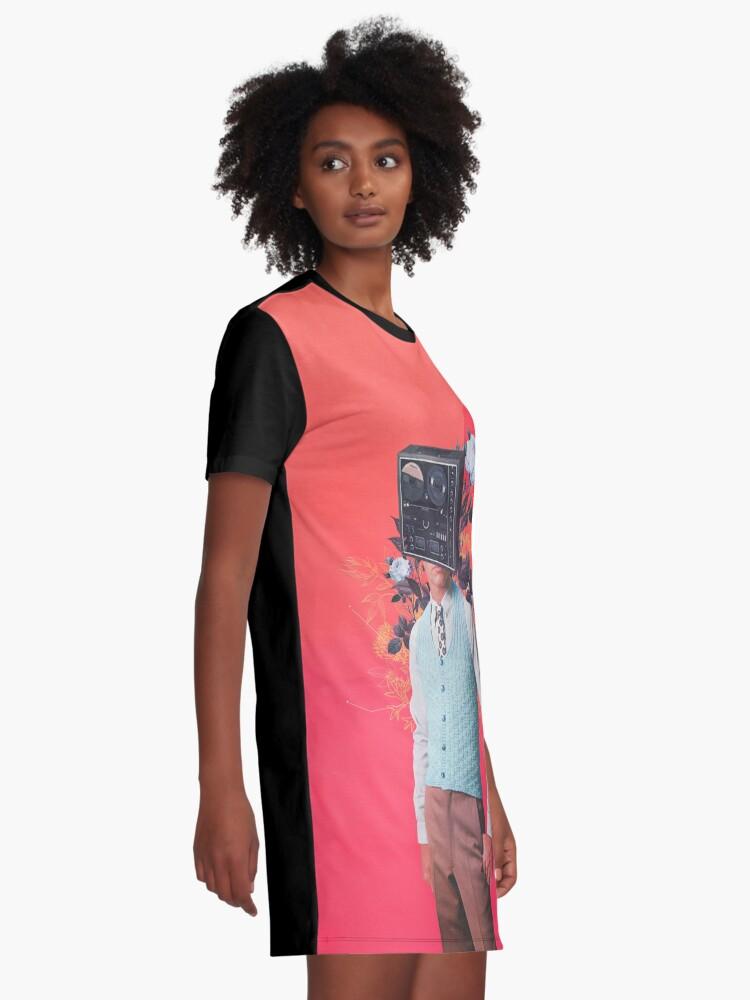 Alternate view of Phonohead Graphic T-Shirt Dress