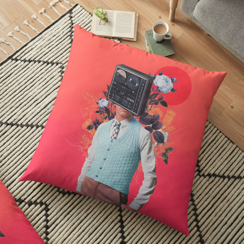 Phonohead Floor Pillow