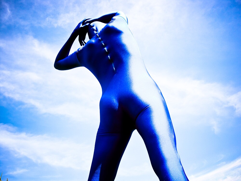 A Day in Blue Zentai lomo 05 by mdkgraphics