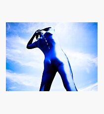 A Day in Blue Zentai lomo 05 Photographic Print