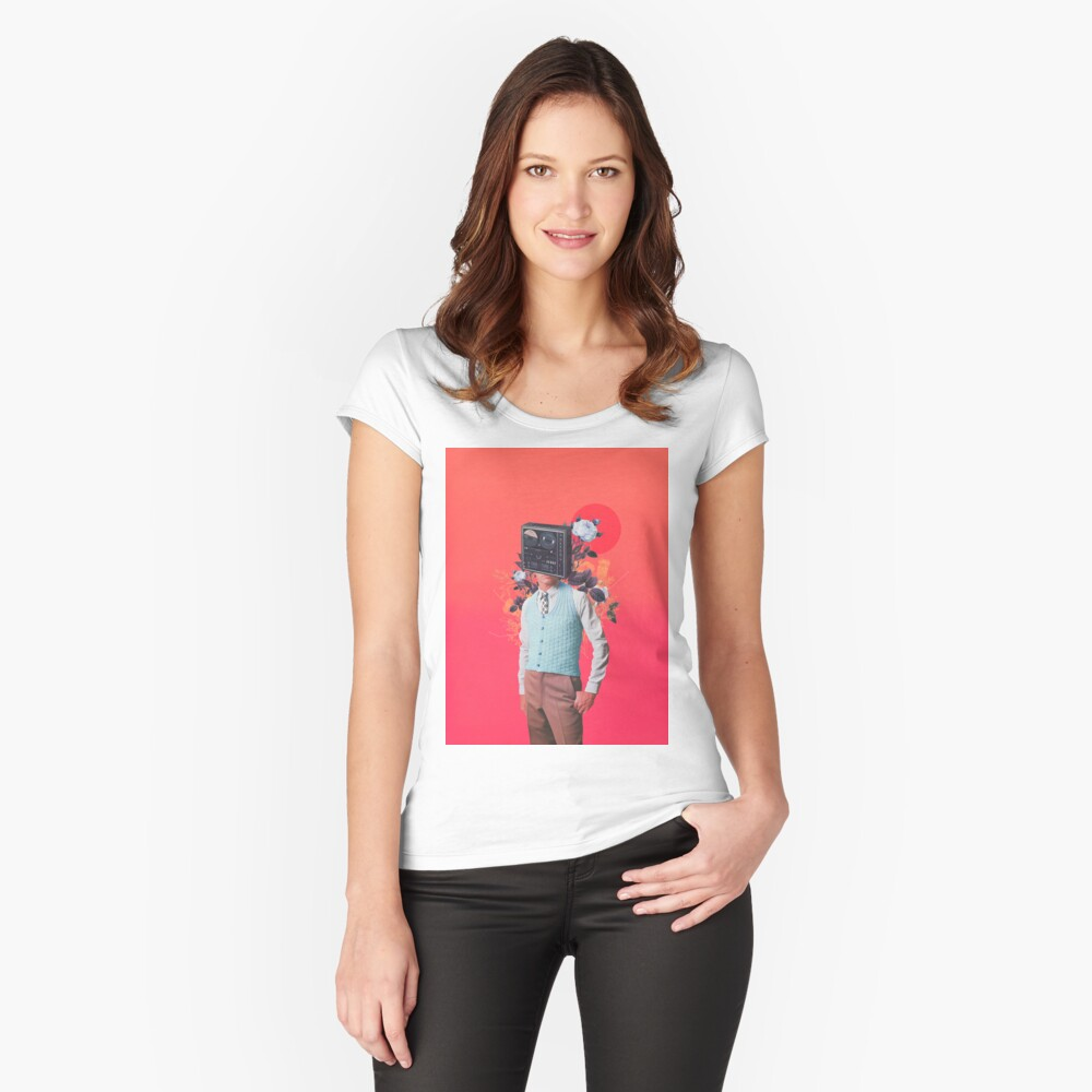 Phonohead Fitted Scoop T-Shirt