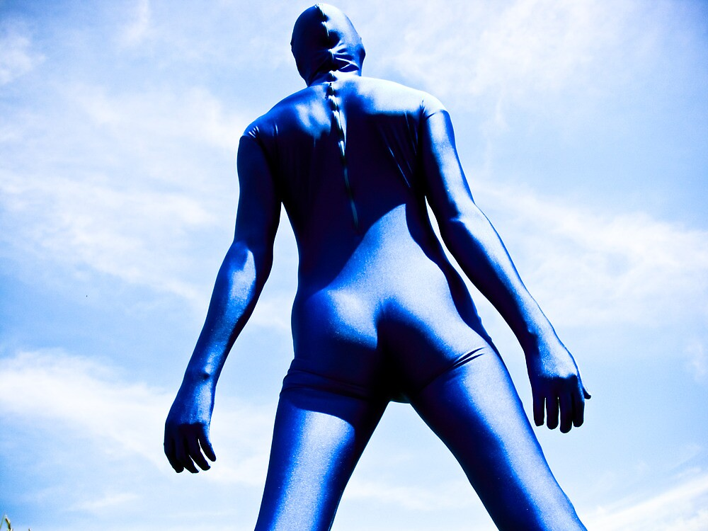 A Day in Blue Zentai lomo 08 by mdkgraphics