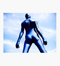 A Day in Blue Zentai lomo 08 Photographic Print