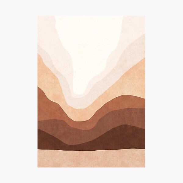 Ombre neutral mountain landscape Photographic Print