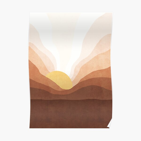 Sunrise mountain landscape Poster