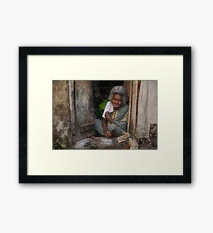 A Warm Smile Framed Print