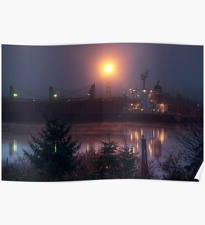 Barge in the Mist Poster