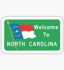Welcome to North Carolina, Road Sign, USA  Sticker