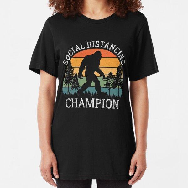 Social Distancing Champion Slim Fit T-Shirt