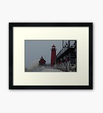 Lapping at the Lighthouse Framed Print