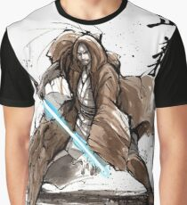 Jedi Knight from Star Wars with calligraphy Graphic T-Shirt