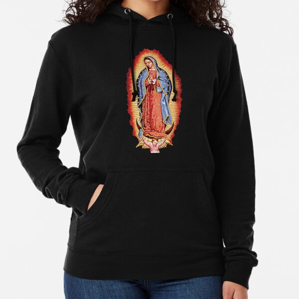 Our Lady of Guadalupe Virgin Mary Lightweight Hoodie