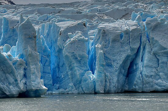 The Face of Grey Glacier by Peter Hammer