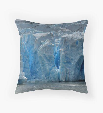 The Face of Grey Glacier Throw Pillow
