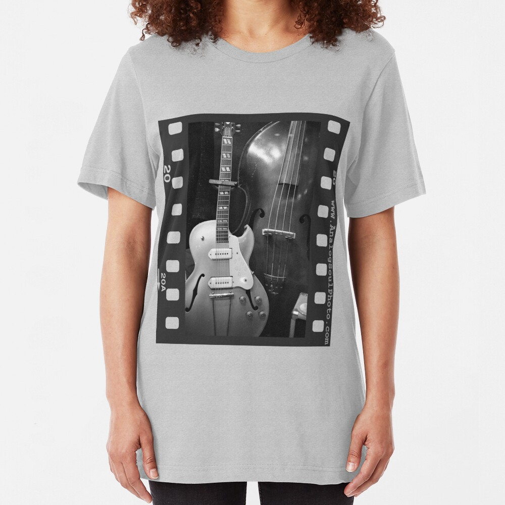 Guitar & Upright Bass Slim Fit T-Shirt