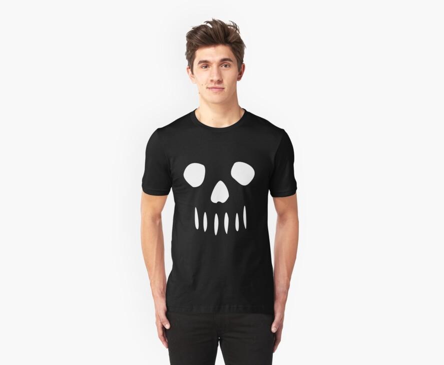 Simple Skull White by erospsyche