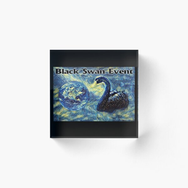 Black Swan Event Acrylic Block