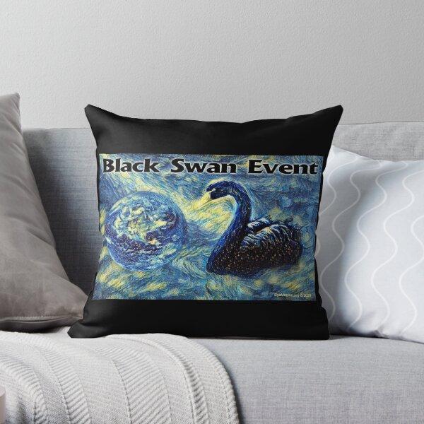 Black Swan Event Throw Pillow