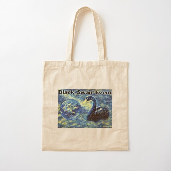 Black Swan Event Cotton Tote Bag