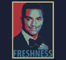 FRESHNESS - Carlton Banks Political Poster