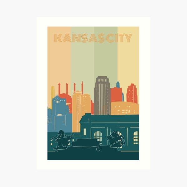 kansas city  skyine Art Print
