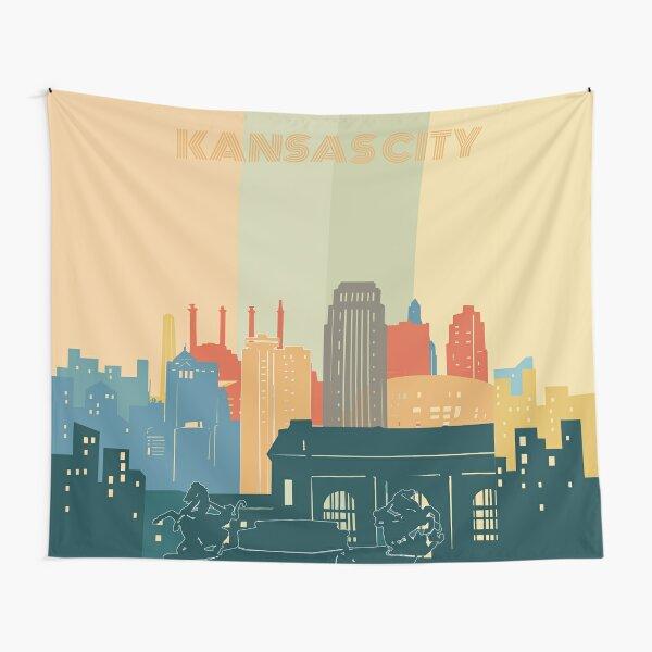 kansas city  skyine Tapestry