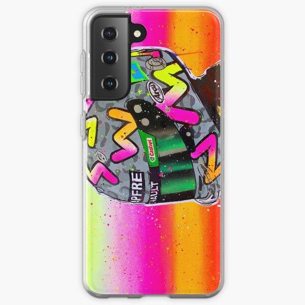 Daniel Ricciardo 2020 - Renault F1 graffiti painting by DRAutoArt Samsung Galaxy Soft Case