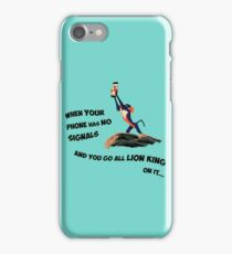 Go Lion King on it iPhone Case/Skin