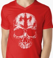 Painted skull Mens V-Neck T-Shirt