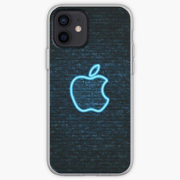 Neon Apple Logo iPhone Soft Case