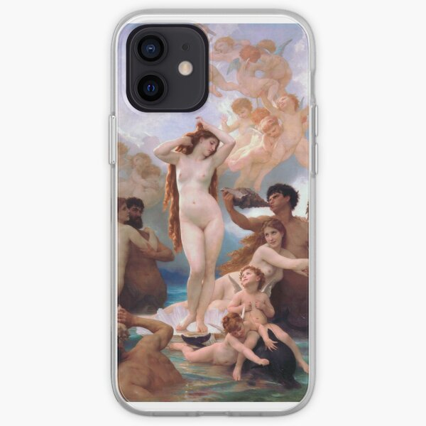 Aphrodite The Birth of Venus by William-Adolphe Bouguereau iPhone Soft Case
