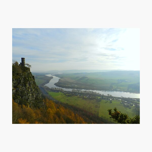 View from Kinnoull hill of the River Tay Photographic Print
