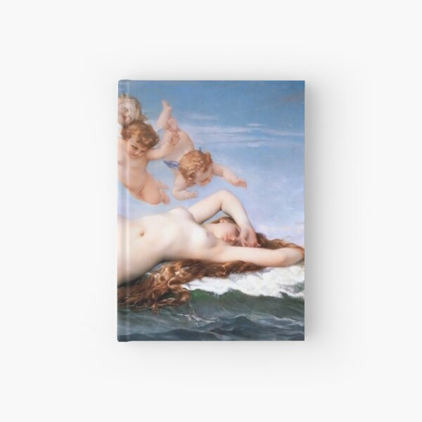 It's Aphrodite The Birth of Venus by Alexandre Cabanel Hardcover Journal