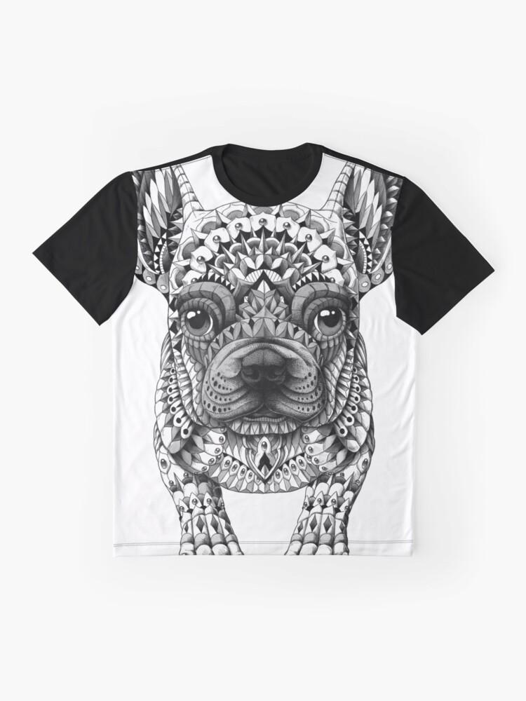 Alternate view of Frenchie (French Bulldog) Graphic T-Shirt