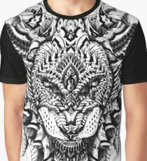 Ornate Lion Graphic T-Shirt