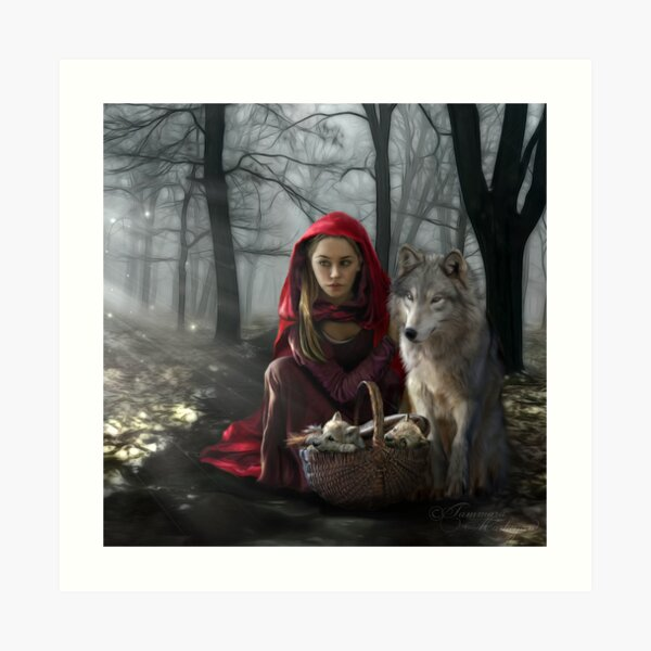 Enchantment Of the Wolf Art Print
