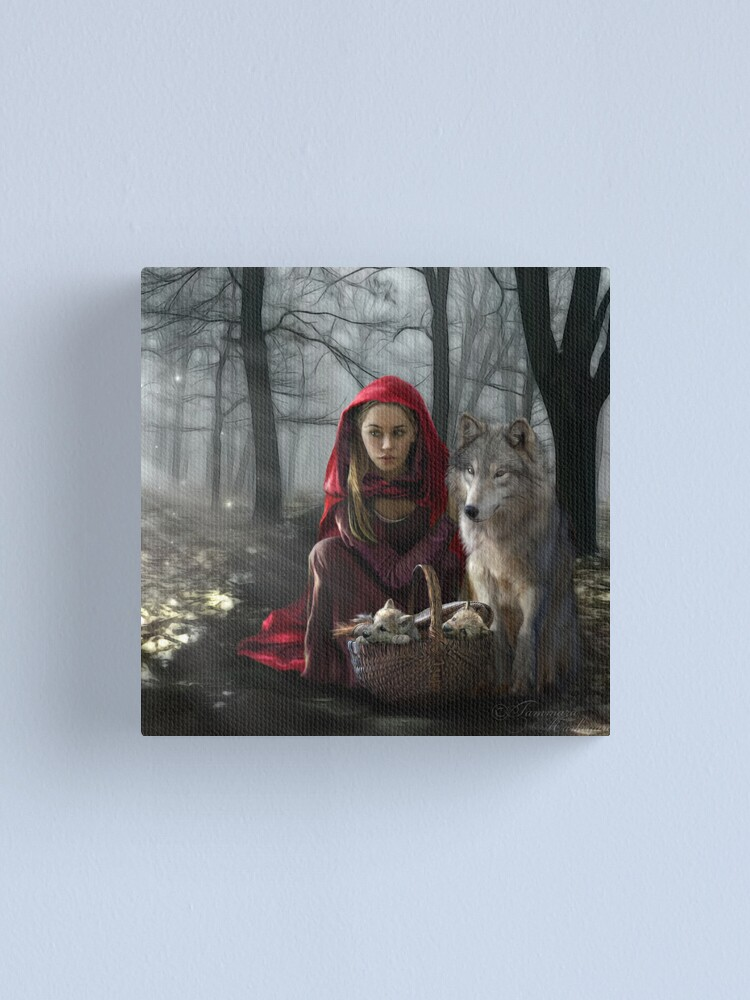 Alternate view of Enchantment Of the Wolf Canvas Print