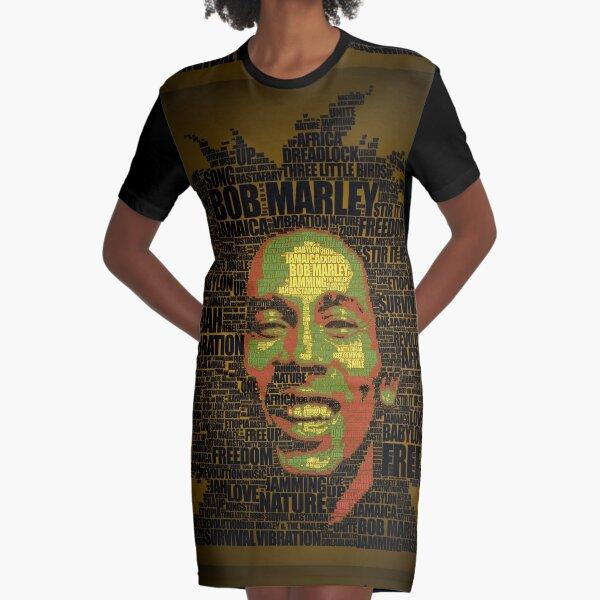 Rasta words Graphic T-Shirt Dress