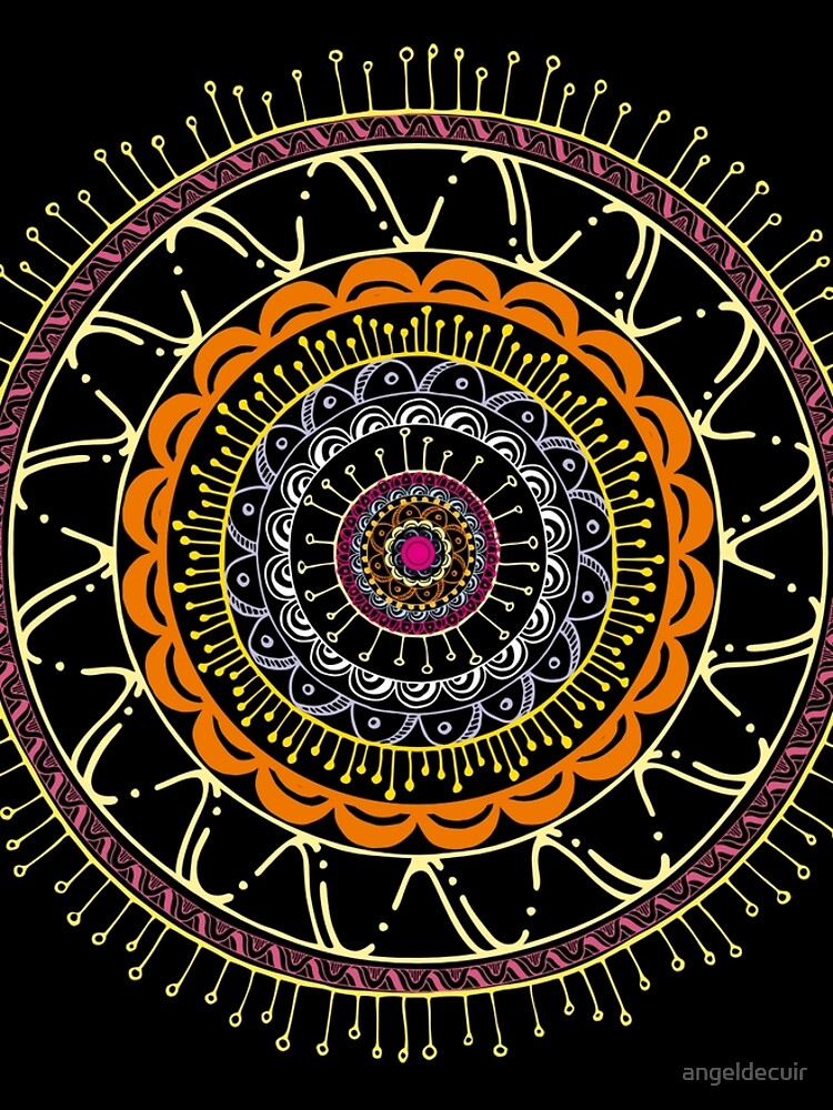 Mandala dark and colors de angeldecuir
