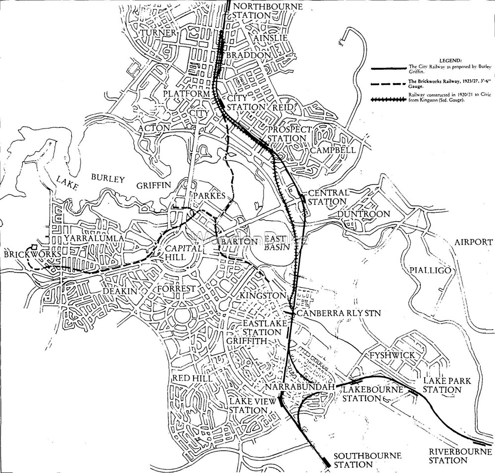 Canberra Railway Stations and Lines by WoodenDuke