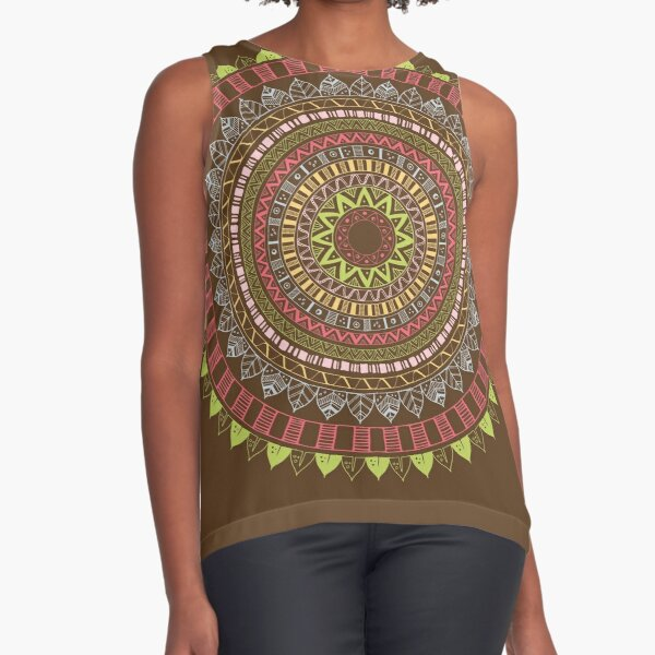 Boho mandala Sleeveless Top