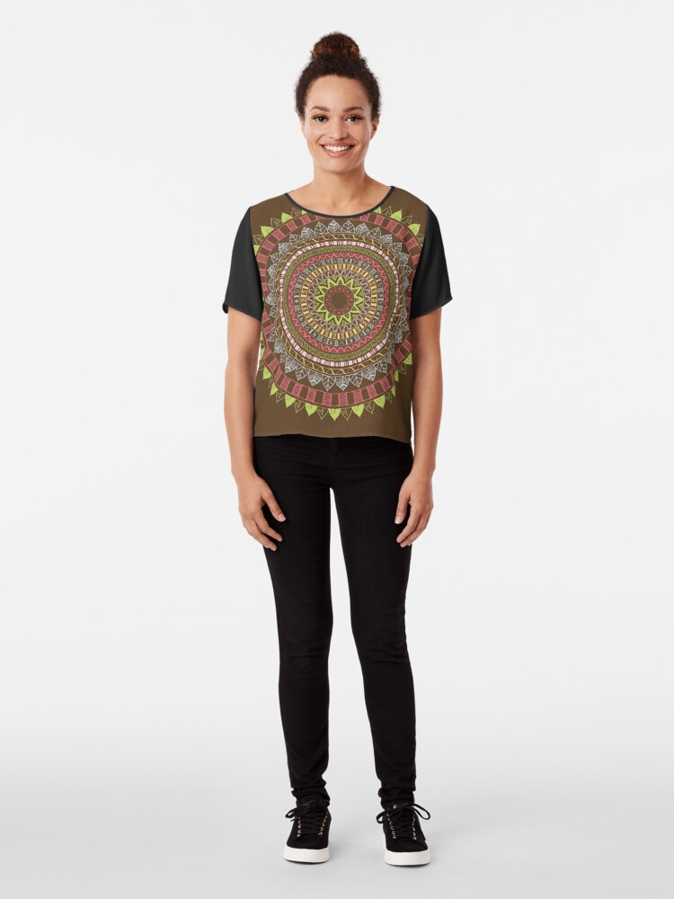 Vista alternativa de Blusa Boho mandala
