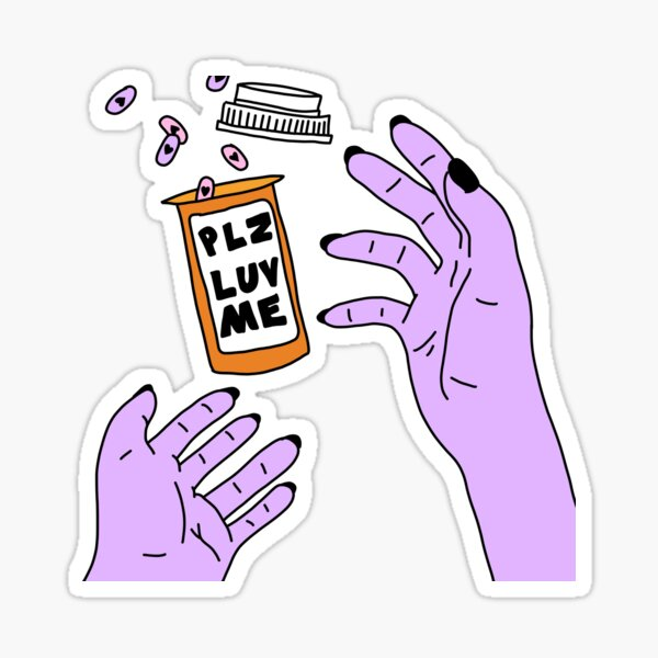 pls luv me Sticker