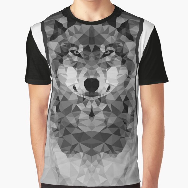 Wolf Lowpoly Graphic T-Shirt