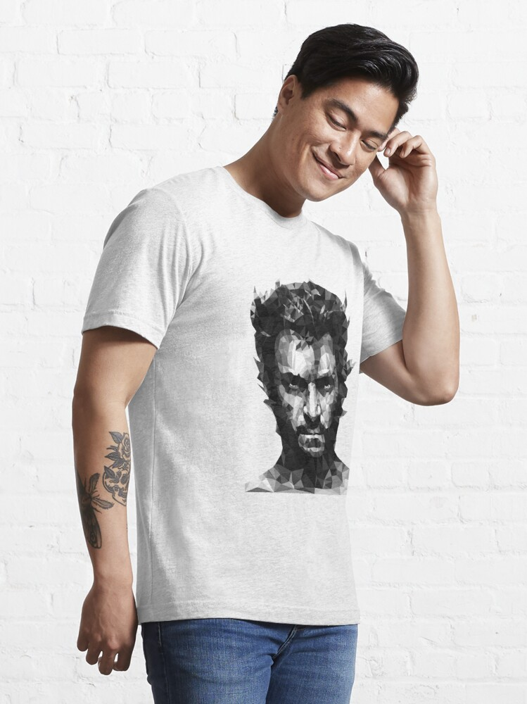 Vista alternativa de Camiseta esencial Logan Lowpoly BN