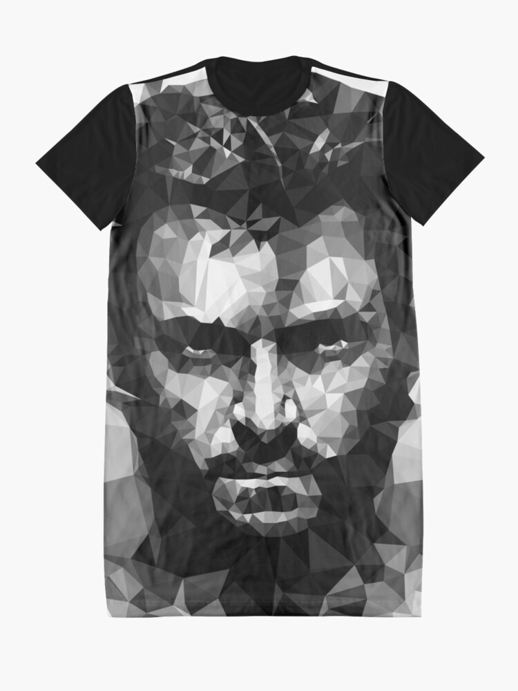 Vista alternativa de Vestido camiseta Logan Lowpoly BN