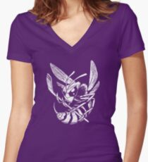 Hockey Hornet Women's Fitted V-Neck T-Shirt